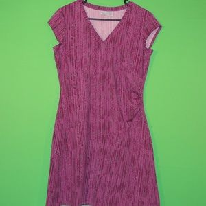 Athleta Womens M Petite Purple Geometric Dress